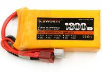 TCB 7.4 В 1300 мАч 70C аккумуляторна батарея style=