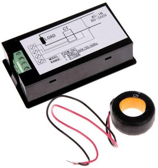 Вольтметр, амперметр, ваттметр переменного тока PZEM-061
