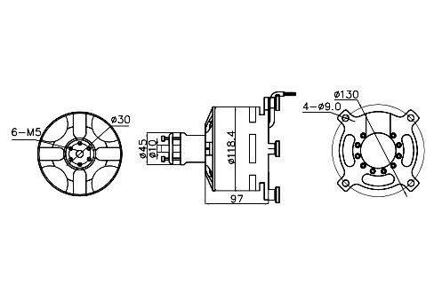 BLDC двигатель KV50 15kwt