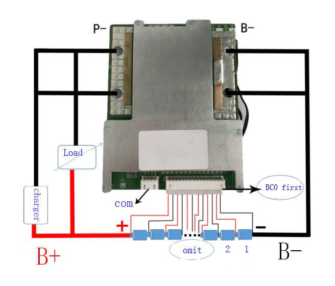 Плата защиты Smart BMS 12 s 100A