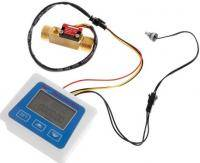Flow meter (liquid meter) with temperature sensor style=