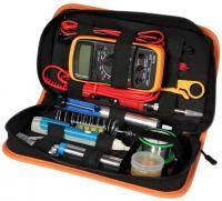 Soldering kit in a case