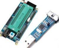 Программатор AVR USBasp + Zif Board 40pin для AVR